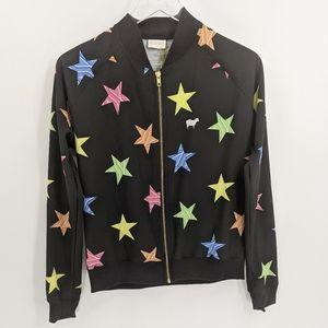 Goldsheep Colorful Star Print Windbreaker Jacket